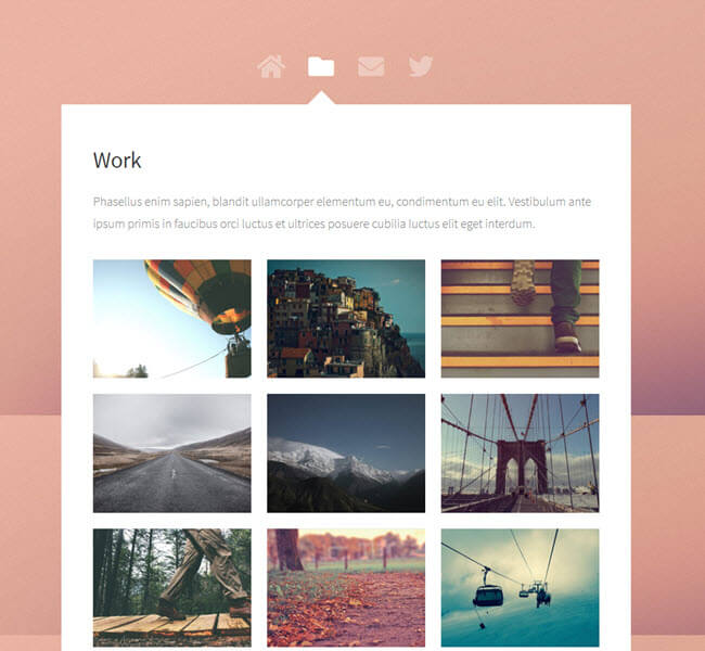 astral free website template