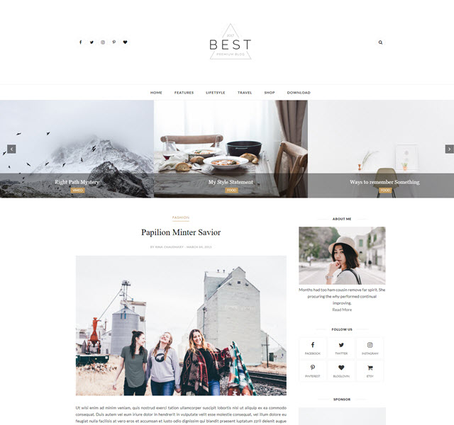 Best Free Personal Blog Blogger Template