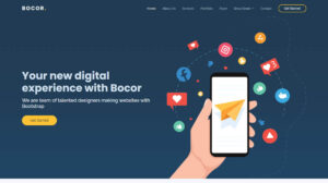 Bocor free bootstrap business website template