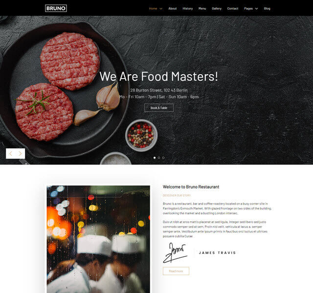 Bruno free template with business layout-Joomla