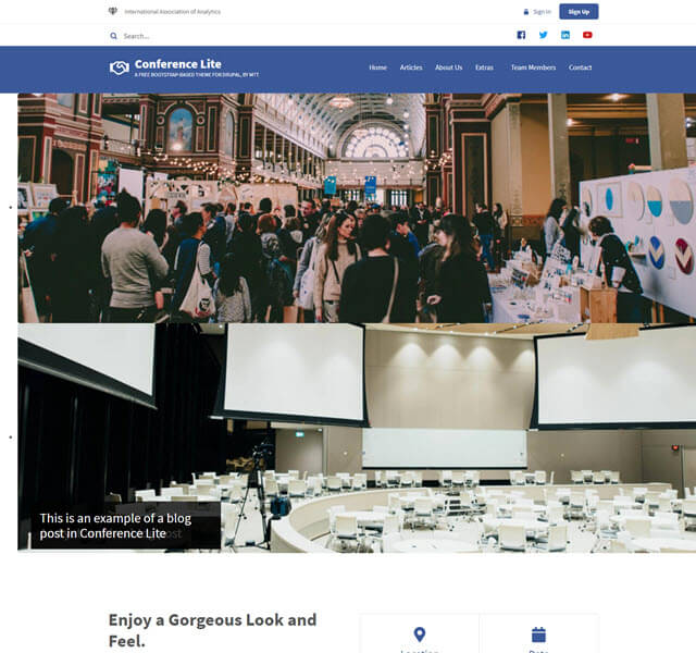 conference lite- news and conference template