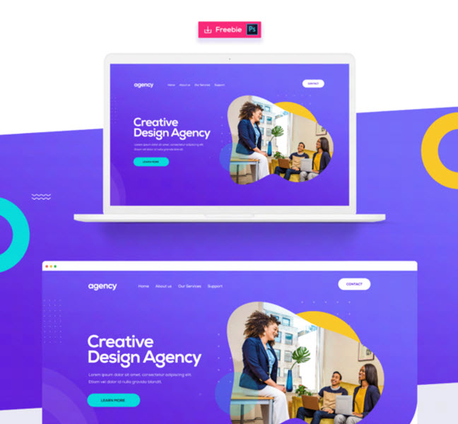 creative agency free template in psd format