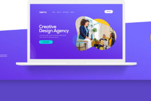 Creative agency psd template download