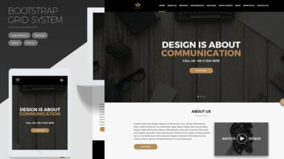 Awax- Free landing page website template