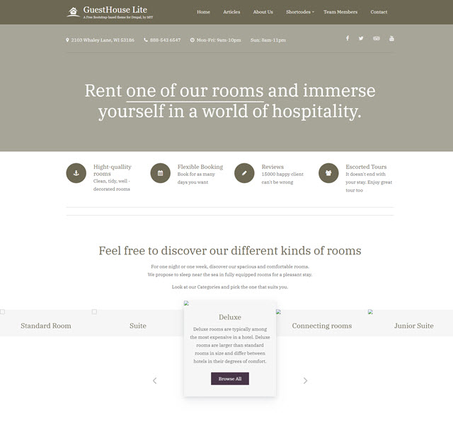 Guesthouse lite Drupal guesthouse template