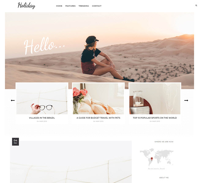 Holiday Free Blogger Template