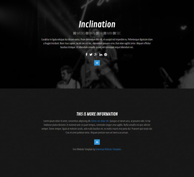 Inclination Free under construction HTML Bootstrap Templates