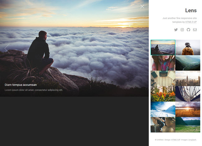 lens awesome website HTML5 template