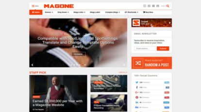 magone responsive news and magazine blogger template