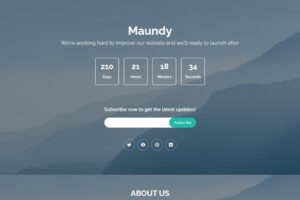 Maunday free bootstrap coming soon website template