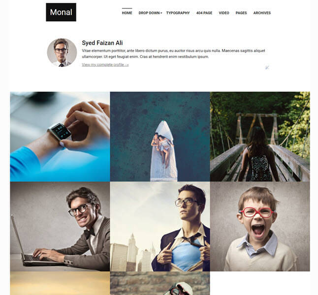Monal Free Personal Blogger Template