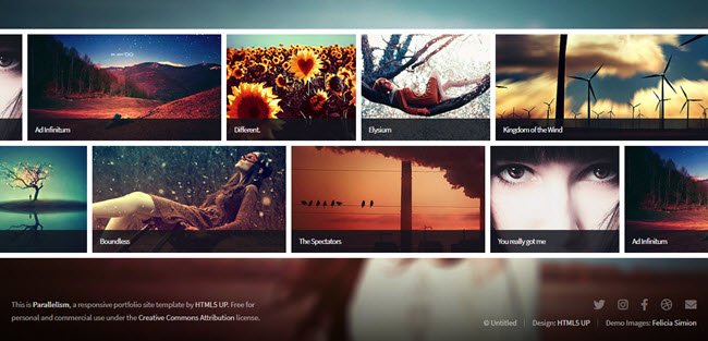 Parallelism free photography HTML website template