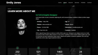 Free Bootstrap personal website template