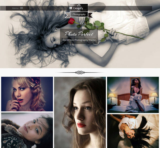 Photo perfect free photography WP theme