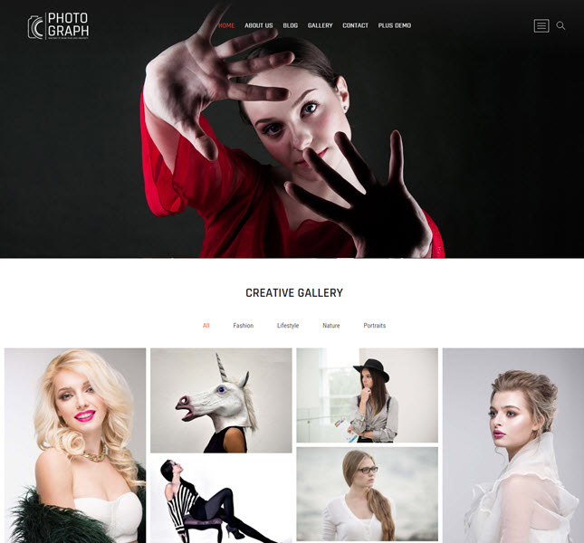 Photograph free photography WP theme