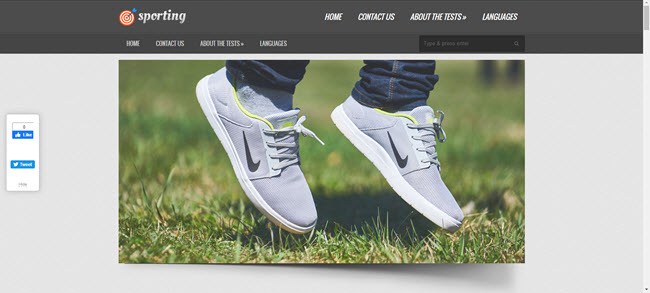 Sporting sports WP theme