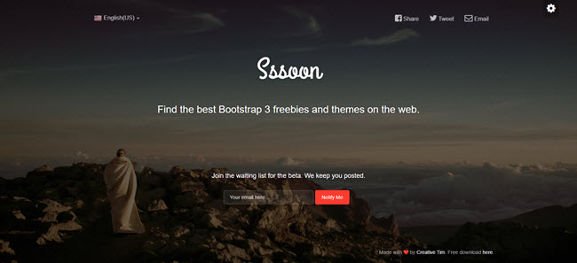 Free Coming Soon HTML page