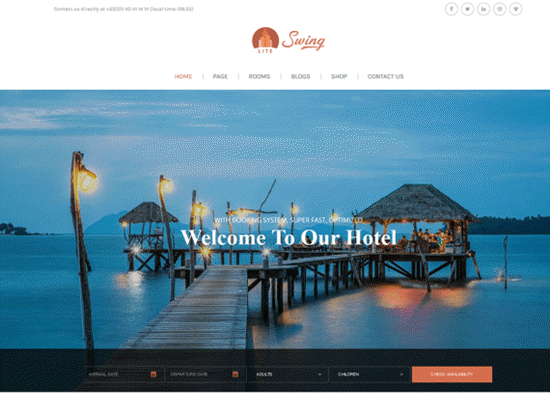 swinglite free wp theme for directory website