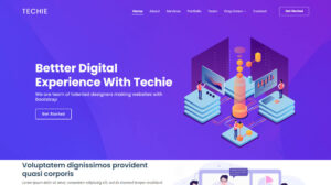 Techie free business website template