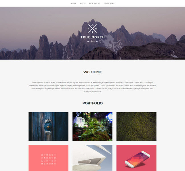 True North awesome Photography WordPress theme