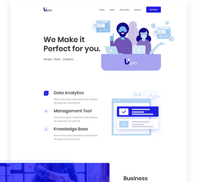 upto nice psd template for business