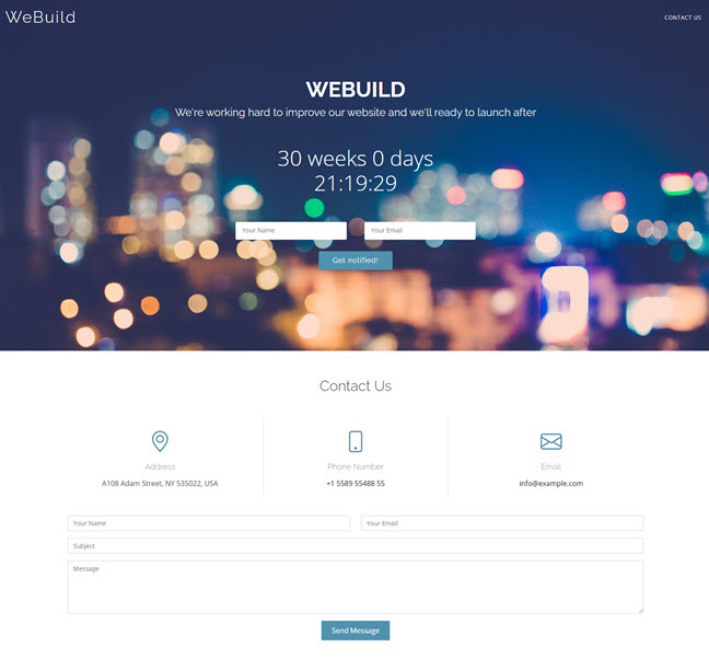 We build under construction HTML Bootstrap Templates