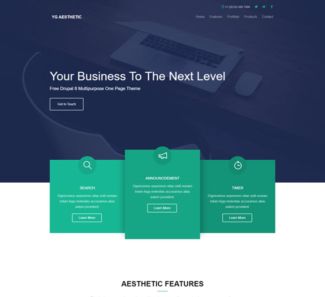YG aesthetic free template for Drupal