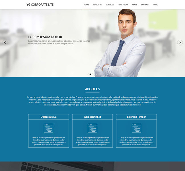 Yg corporate free drupal corporate template